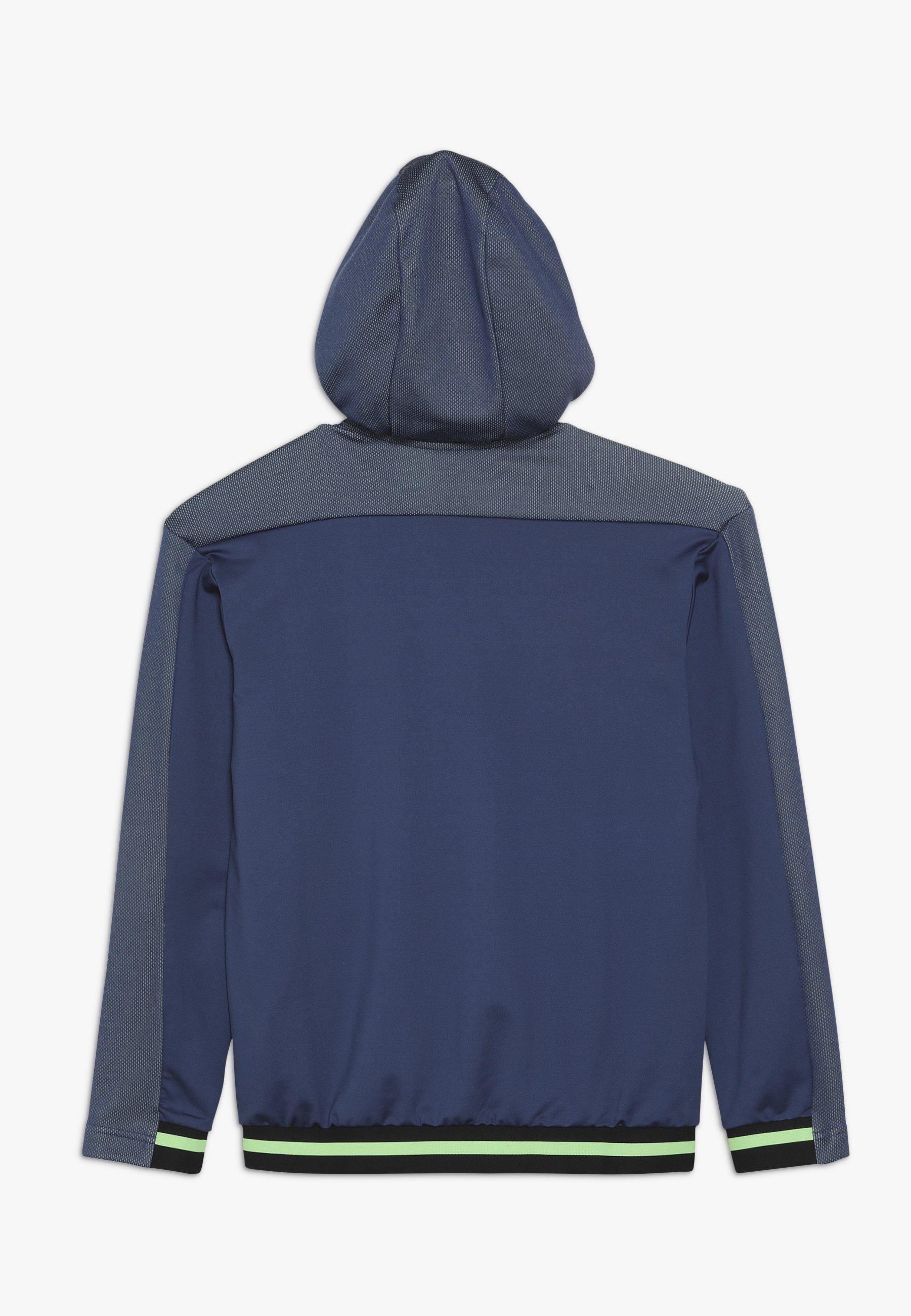 adidas Core18 Hoody, hettegenser junior Dark Blue Genser
