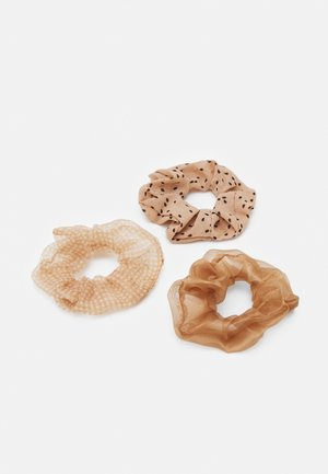 TEXTURED SCRUNCHIE 3 PACK - Hair styling accessory - cosmetic tones