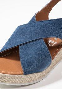 Marco Tozzi - Platform sandals - denim - 2