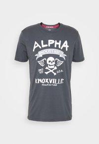 Alpha Industries - SKULL - Print T-shirt - greyblack - 0