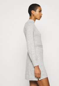 Abercrombie & Fitch - BELTED COZY DRESS - Jumper dress - gray - 5