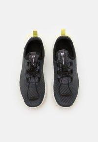 Salomon - SENSE FLOW UNISEX - Zapatillas de senderismo - ebony/white/charlock - 3