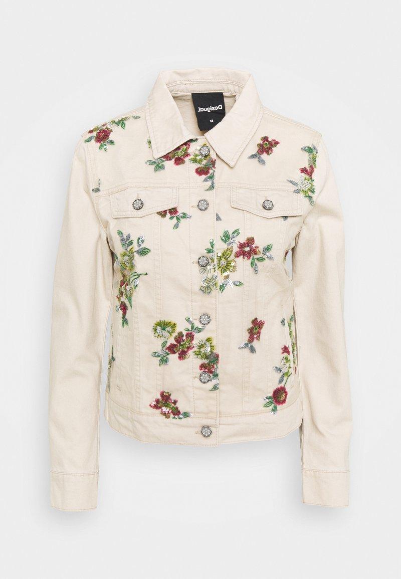 Desigual - BRILLIGRIN - Jeansjakke - white