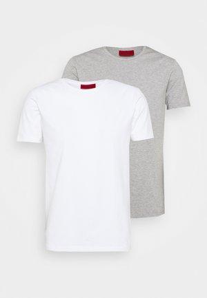 ROUND 2 PACK - T-Shirt basic - white/grey