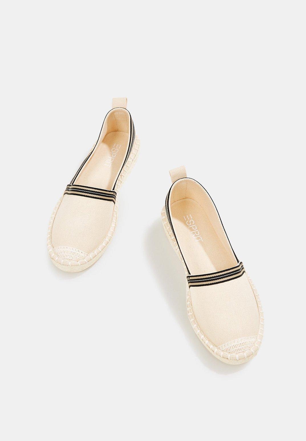 INES TAPE SLIP Espadrillos cream beige