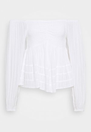 SOLID OFF THE SHOULDER - Blouse - true white