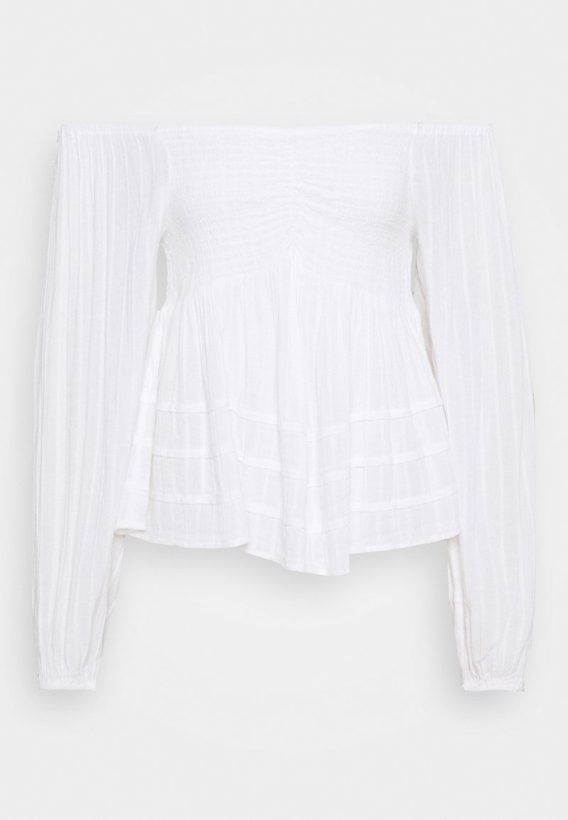 American Eagle - SOLID OFF THE SHOULDER - Blouse - true white