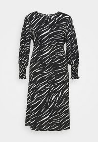 New Look Curves - SHIRRED DETAIL MIDI DRESS - Day dress - black pattern - 5
