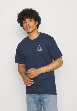 ESSENTIALS TEE - Print T-shirt - navy