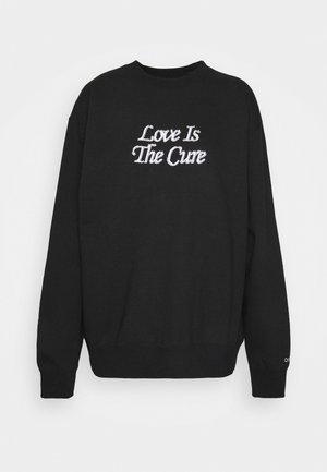 LOVE IS THE CURE CREW  - Sweatshirt - black