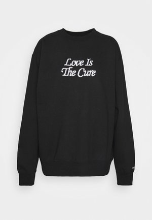 LOVE IS THE CURE CREW  - Mikina - black