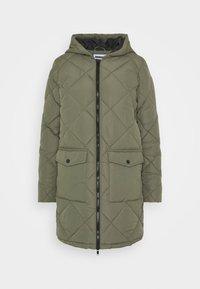 Noisy May Petite - NMFALCON LONG JACKET - Winter coat - dusty olive - 3