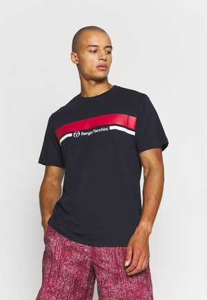 ANISE - T-shirt con stampa - dark blue/red