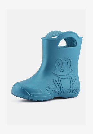 Wellies - metallic blue