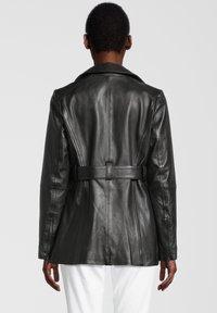 7eleven - Leather jacket - black - 1