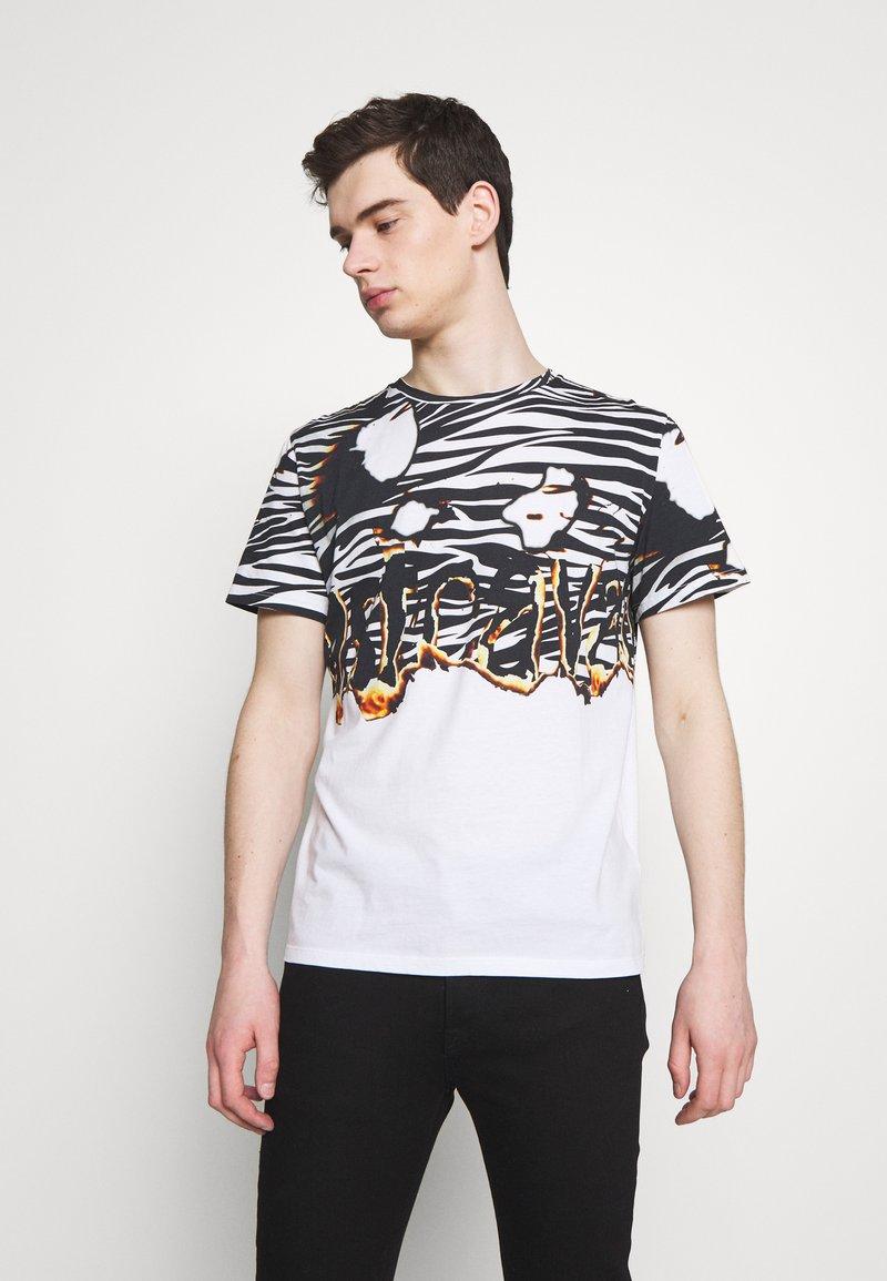 Just Cavalli - ZEBRA PRINT - Print T-shirt - white