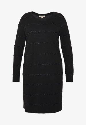 TINSEL STRIPE DRESS - Gebreide jurk - black