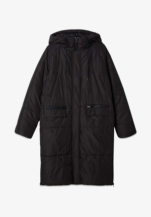 LANGER STEPPMANTEL - Winter coat - black