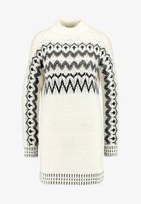 Miss Selfridge - FAIRISLE DRESS - Jumper dress - cream/black - 3