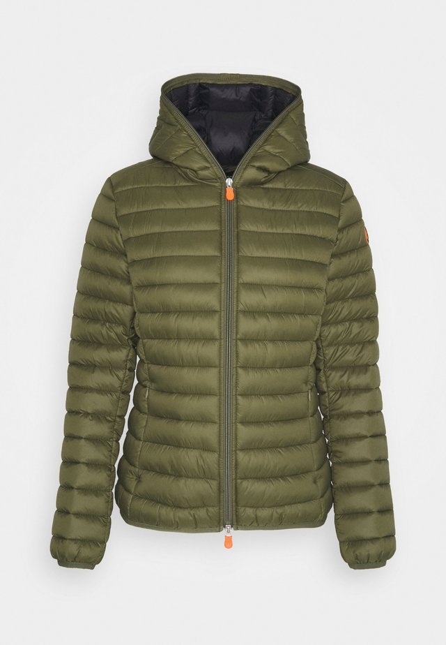 GIGA DAISY HOODED JACKET - Winterjas - dusty olive