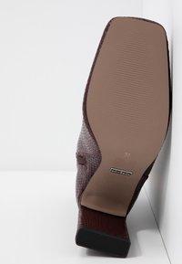 Topshop - HALIA SQUARE TOE - High heeled ankle boots - burgundy - 6