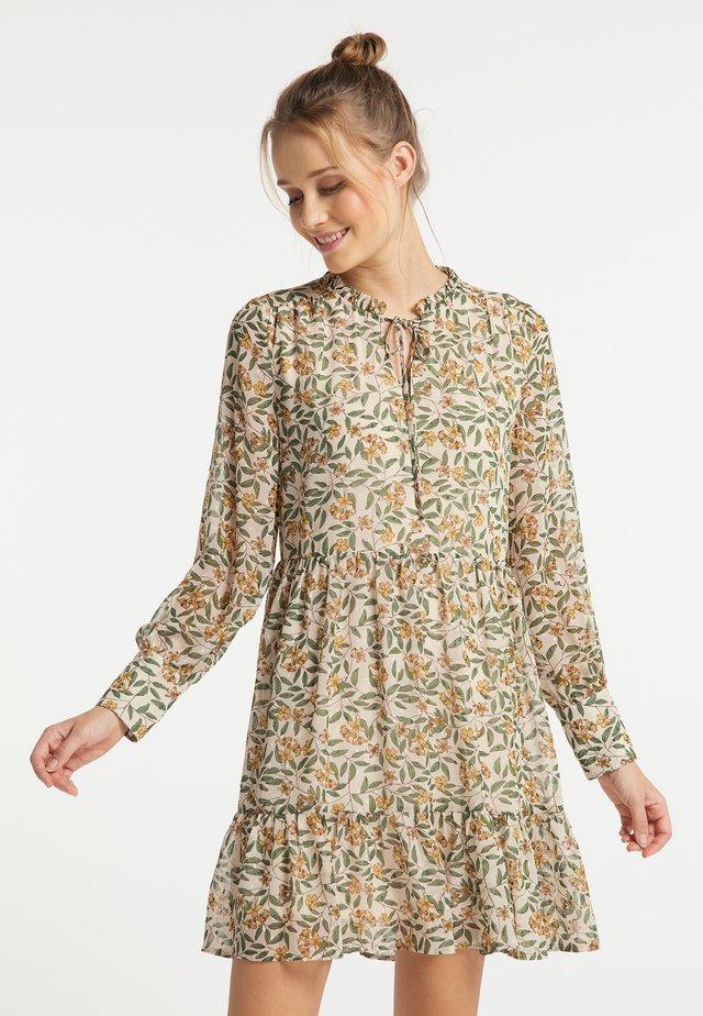 Korte jurk - weiss blumen