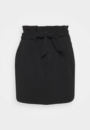 ONLCAROLINA SKIRT - Mini skirt - black