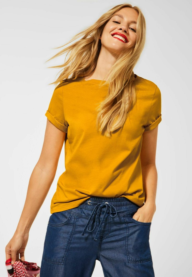 Street One - Basic T-shirt - gelb