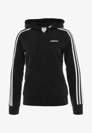 veste en sweat zippée - black/white
