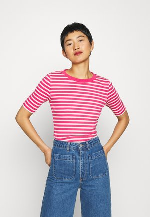 STRIPED - Print T-shirt - rich pink