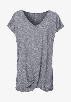 T-shirt con stampa - grau