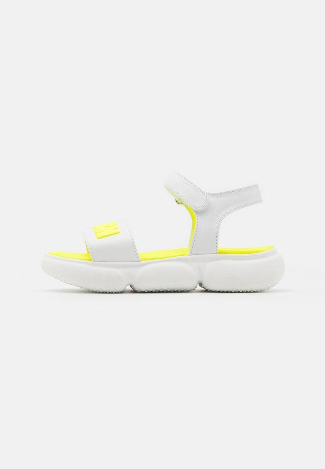Sandalen - white/neon yellow