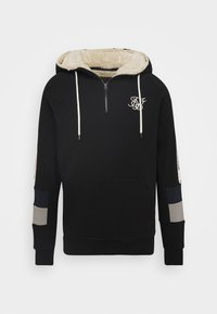 SIKSILK - OLD ENGLISH BORG QUARTER ZIP - Sudadera - black - 3