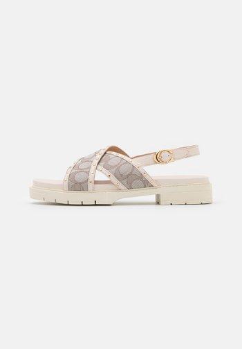 PALMER JACQUARD - Sandals - stone