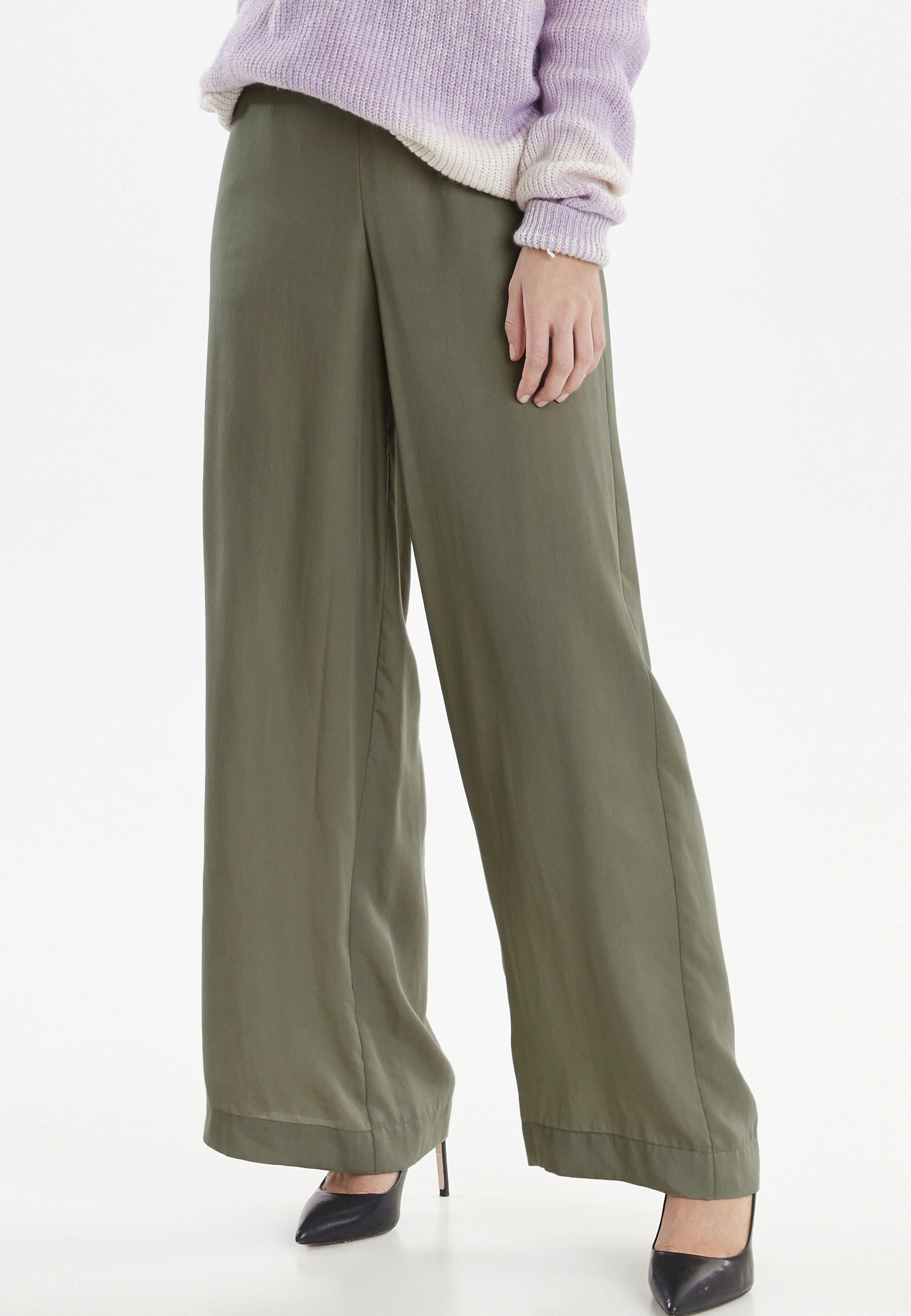 b.young BYGOLDA - Pantalon classique - sea green - Pantalons & Leggings Femme Gc6w5