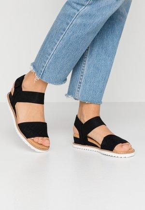 DESERT KISS - Wedge sandals - black