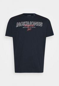 Jack & Jones - JORBOOSTER TEE CREW NECK - Print T-shirt - navy blazer - 0