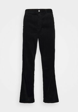 SINGLE KNEE PANT URBANA - Trousers - black rinsed