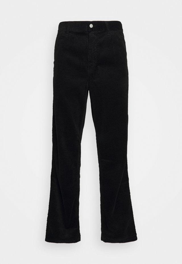 SINGLE KNEE PANT URBANA - Pantalones - black rinsed