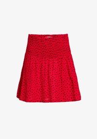 WE Fashion - MET HARTJESDESSIN - A-line skirt - red - 0