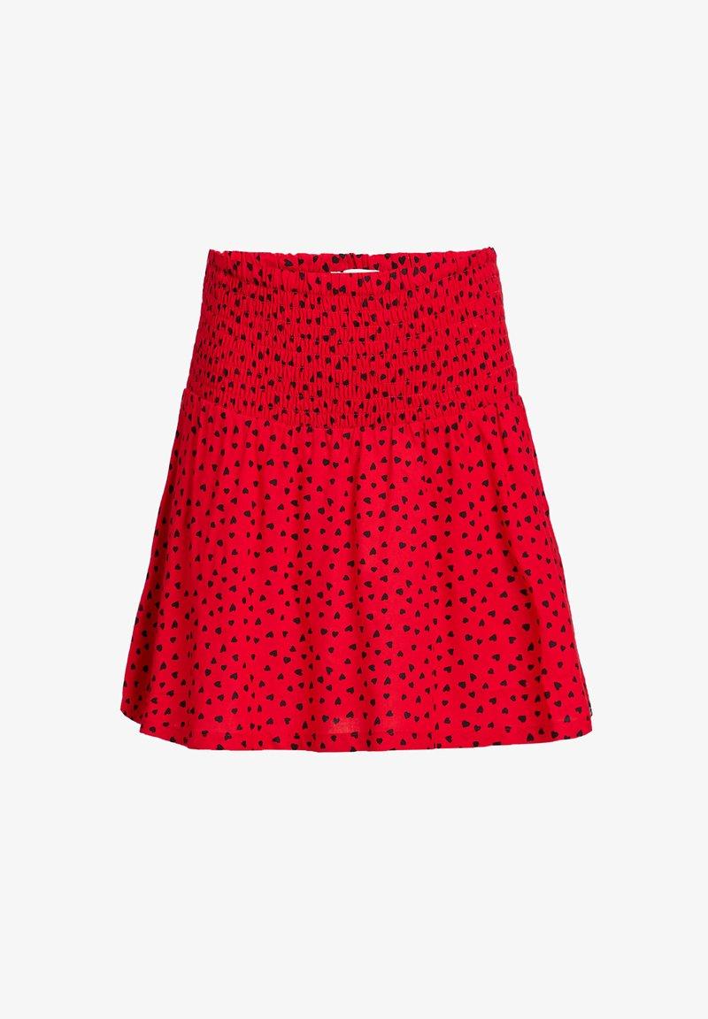 WE Fashion - MET HARTJESDESSIN - A-line skirt - red