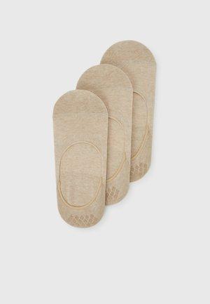 STEP BUNDLE 3 PACK - Trainer socks - sand melange