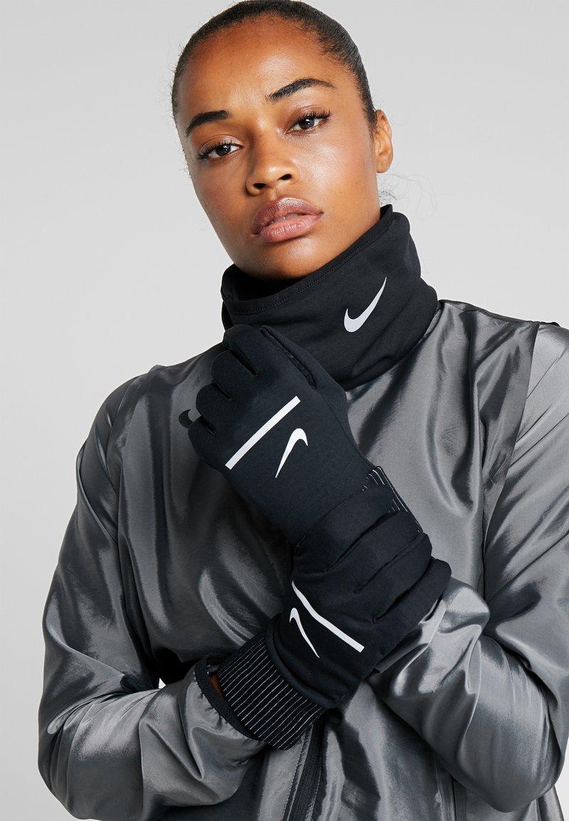 Nike Performance - SPHERE RUNNING GLOVES 2.0 - Fingervantar - black/silver