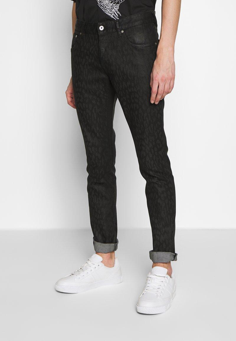 Just Cavalli - ANIMAL PATTERN PANTS 5 POCKETS - Jeans Slim Fit - black