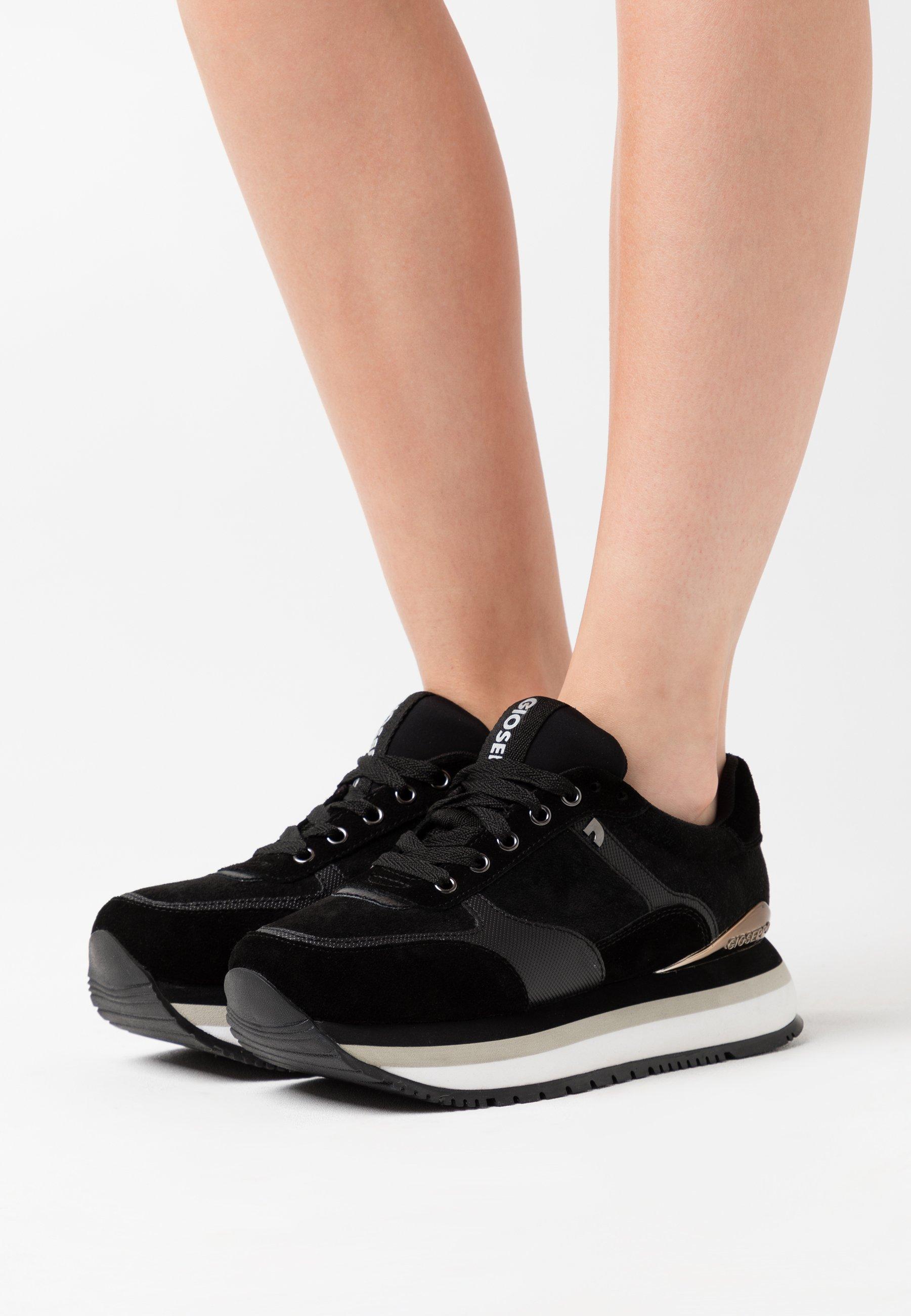 Ogromny zakres Zniżka Gioseppo AUSSEE - Sneakersy niskie - black | Obuwie damskie 2020 dECXt