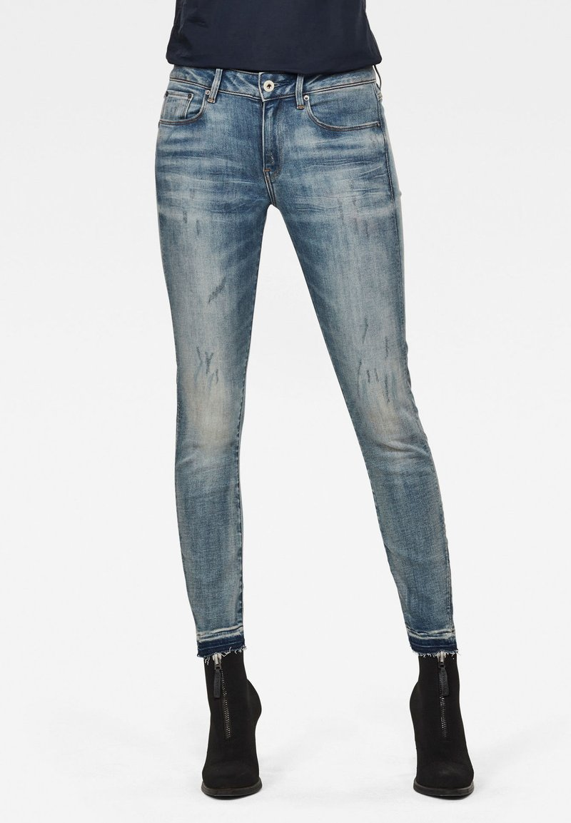 G-Star - Jeans Skinny Fit - antic faded lapo blue destroyed
