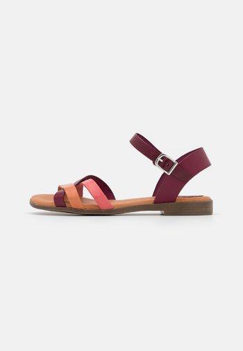 FIONA - Sandals - bordo/multicolor
