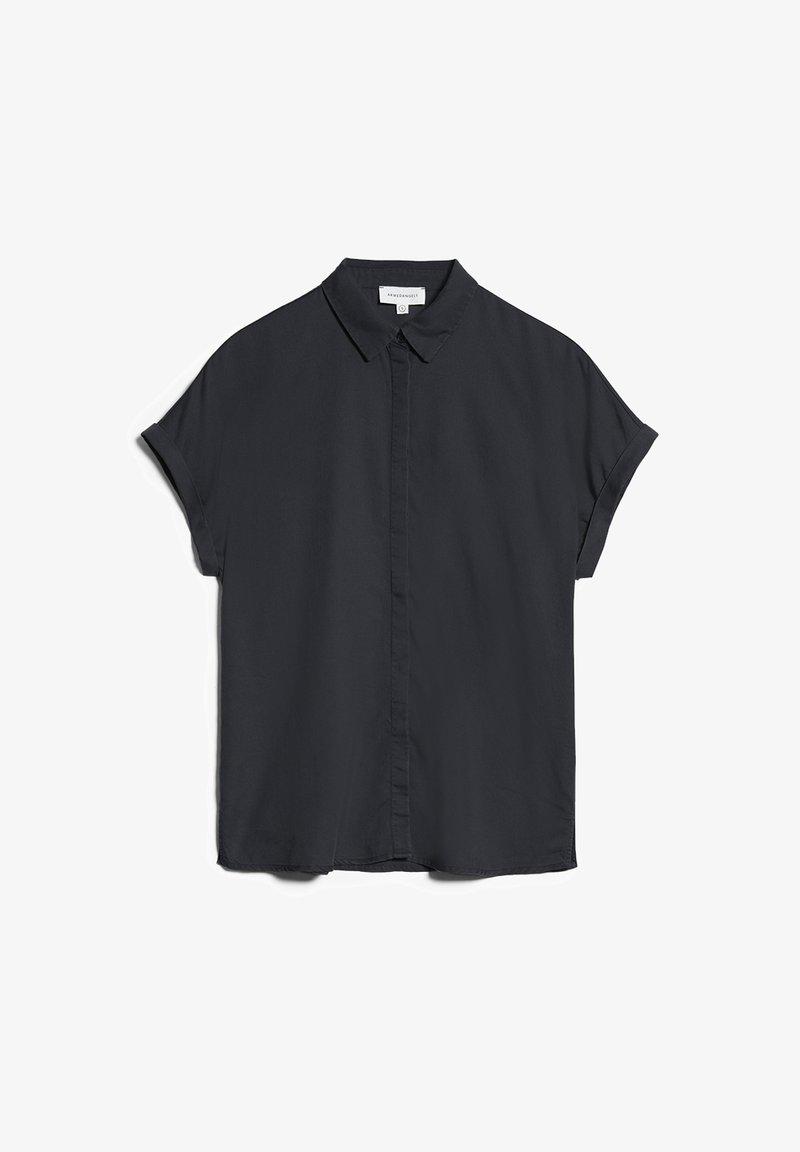 ARMEDANGELS - ZONJAA - Button-down blouse - deep anthra