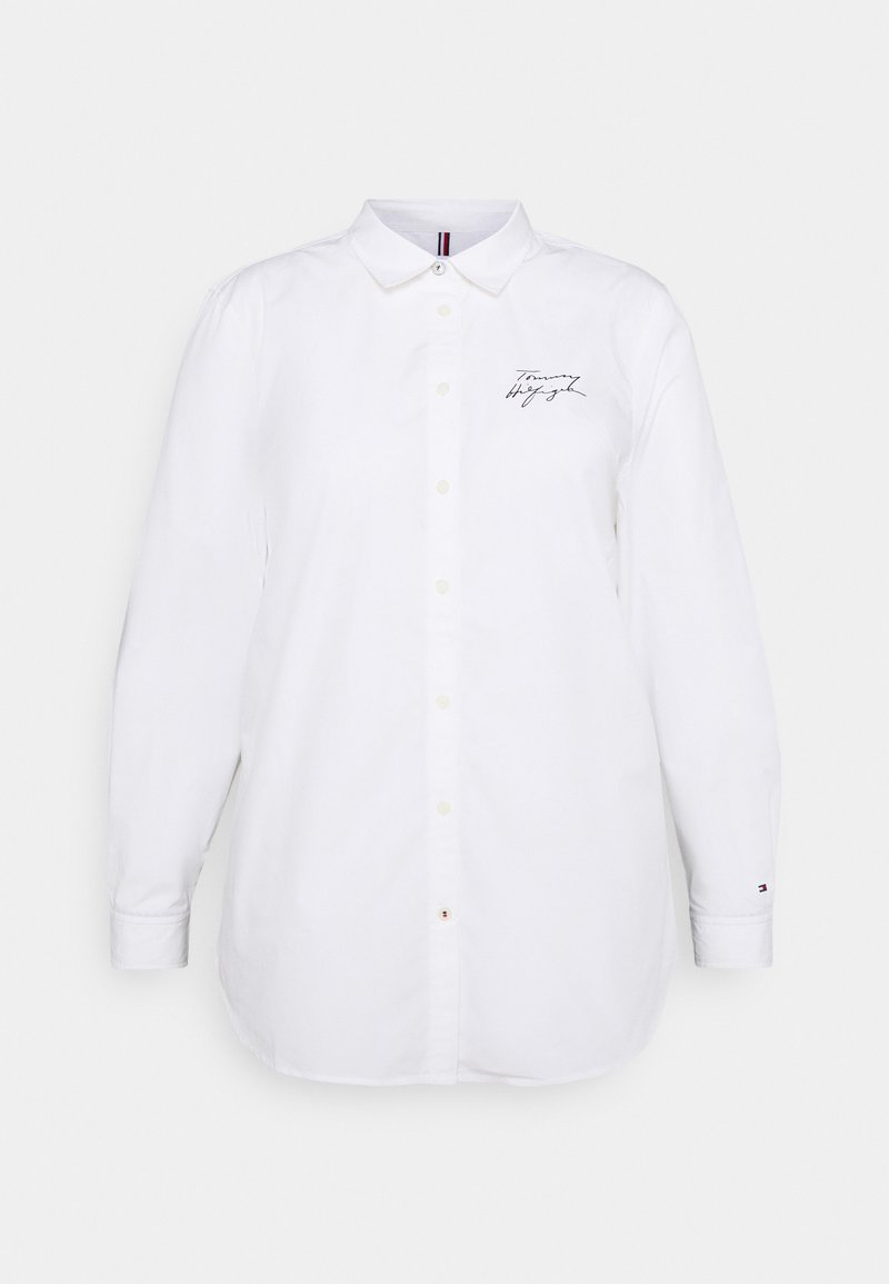 Tommy Hilfiger Curve - REGULAR SHIRT - Blouse - optic white