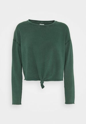 KNOT TIE CROP - Long sleeved top - sycamore